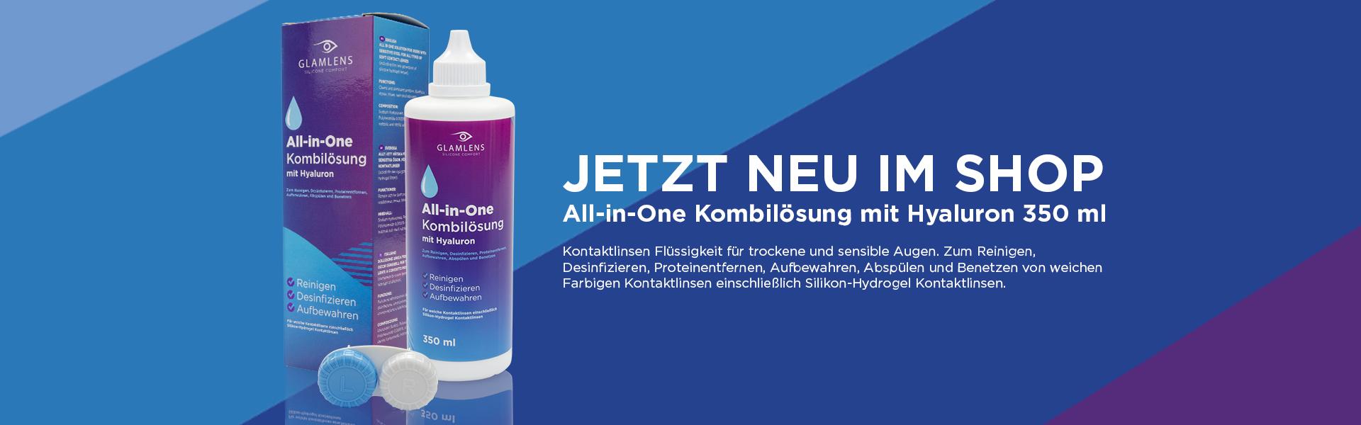 All-in-One Kombilösung mit Hyaluron 350 ml